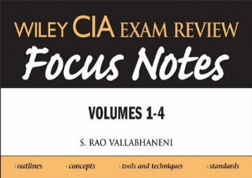 [+]The best book of the month Wiley CIA Exam Review Focus Notes: v. 1-4  [FULL]
