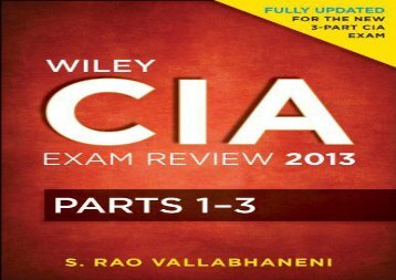 [+][PDF] TOP TREND Wiley CIA Exam Review: v. 1-3 (Wiley CIA Exam Review Series) [PDF]