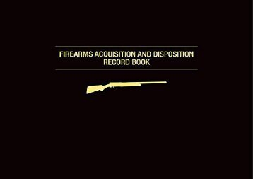 [+][PDF] TOP TREND Firearms Acquisition and Disposition Record Book  [FULL]