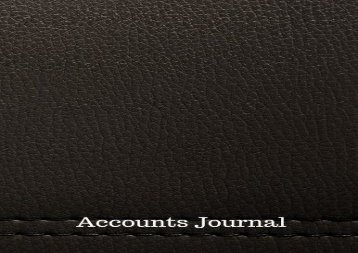 [+][PDF] TOP TREND Accounts Journal: Account Journal : General Notebook With Columns For Date, Description, Reference, Credit, And Debit. Paper Book Pad with 100 Record Pages 8.5 In By 11 In  [NEWS]