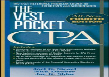 [+]The best book of the month The Vest Pocket CPA  [DOWNLOAD]