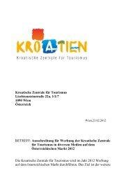 Media Campagne 2012 Kroatiesche zentrale