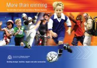 the real value of sport - Department of Sport and Recreation - The ...