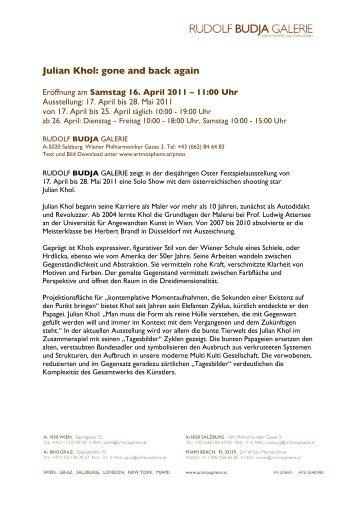Julian Khol: gone and back again - Artmosphere Galerien Gmbh