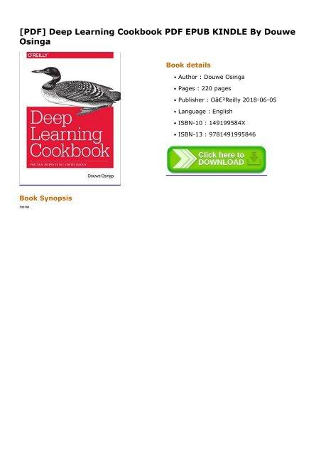 Deep-Learning-Cookbook