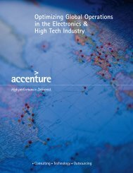 Optimizing Global Operations in the Electronics & High Tech Industry