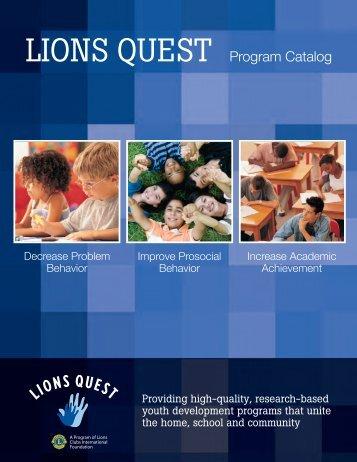 LIONS QUEST Program Catalog