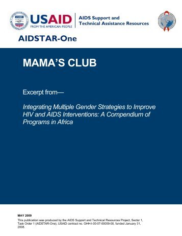 MAMA'S CLUB, Excerpt from Integrating Multiple ... - AIDSTAR-One