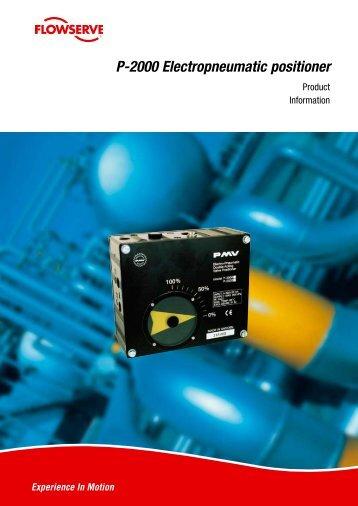 P-2000 Electropneumatic positioner - PMV Positioners