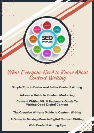 What Everyone Need to Know About Content Writing
