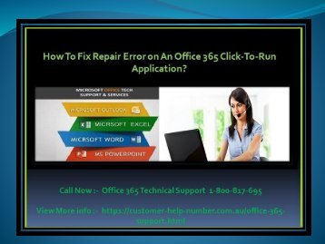 How To Fix Repair Error on An Office 365 Click-To-Run Application?