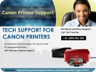Canon printer helpline support number Australia + 61-1800-431-295