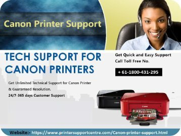 Canon printer helpline support number Australia + 61-1800-431-295