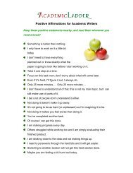 Positive Affirmations for Academic Writers - Academic Writing Club