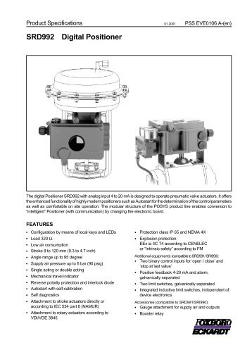 Eckardt positioner Manual