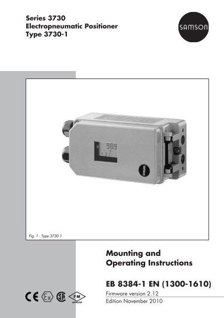 Samson 3730-1 manuals.