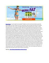 Keto X Factor - It Increase The Burning Of Fat For Energy