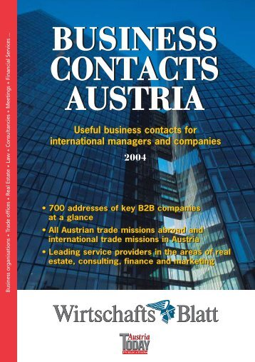 BUSINESS CONTACTS AUSTRIA BUSINESS CONTACTS AUSTRIA