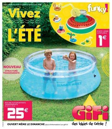 Gifi catalogue 24 juillet-6 août 2018