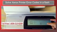 Xerox Printer Error Codes in a flash