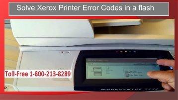 Xerox Printer Error Codes in a flash
