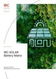 IBC SOLAR Battery Matrix