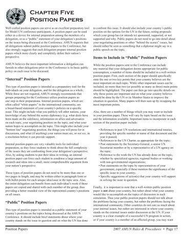 Model UN Resolution Sample