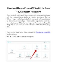 Resolve iPhone Error 4013 with dr.fone – iOS System Recovery