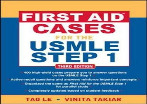 [+][PDF] TOP TREND First Aid Cases for the USMLE Step 1, Third Edition (First Aid USMLE)  [NEWS]