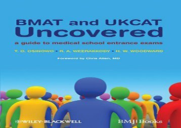 [+][PDF] TOP TREND BMAT and UKCAT Uncovered: A Guide to Medical School Entrance Exams  [DOWNLOAD]
