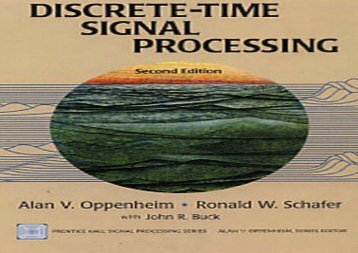 [+]The best book of the month Discrete-time Signal Processing, reissued 2nd Ed.  [DOWNLOAD]