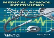 [+]The best book of the month Medical School Interviews (2nd Edition). Over 150 Questions Analysed. Includes Multiple-Mini-Interviews (MMI) - A Practical Guide to Help You Get That Place at Medical School. [PDF]