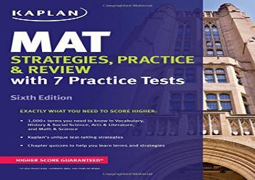 the best book of the month mat strategies practice review kaplan
