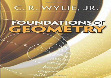 [+][PDF] TOP TREND Foundations of Geometry (Dover Books on Mathematics) [PDF]