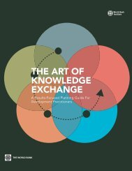 THE ART OF KNOWLEDGE EXCHANGE - World Bank Institute