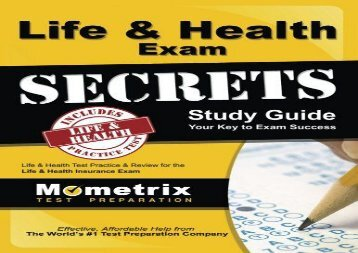 [+][PDF] TOP TREND Life   Health Exam Secrets Study Guide: Life   Health Test Review for the Life   Health Insurance Exam (Mometrix Secrets Study Guides)  [FULL]
