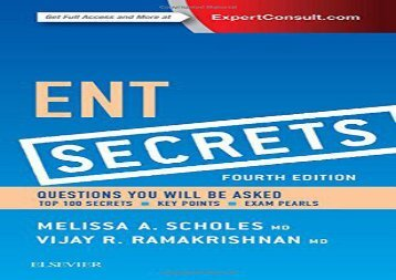 [+][PDF] TOP TREND ENT Secrets, 4e  [READ]