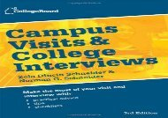 [+][PDF] TOP TREND Campus Visits and College Interviews (College Board Campus Visits   College Interviews)  [NEWS]