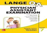 [+]The best book of the month LANGE Q A Physician Assistant Examination, Seventh Edition (Lange Q A Allied Health) [PDF]