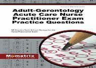 [+]The best book of the month Adult-Gerontology Acute Care Nurse Practitioner Exam Practice Questions: NP Practice Tests   Exam Review for the Nurse Practitioner Exam  [NEWS]