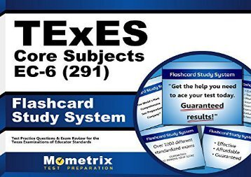 [+][PDF] TOP TREND Texes Core Subjects EC-6 (291) Flashcard Study System: Texes Test Practice Questions and Review for the Texas Examinations of Educator Standards  [READ]