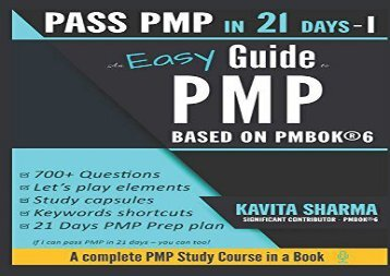 [+][PDF] TOP TREND An Easy Guide to PMP: Pass PMP in 21 Days Series - STEP 1  [READ]
