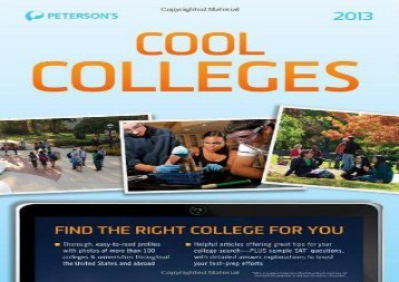 [+]The best book of the month Cool Colleges (Peterson s Cool Colleges 101)  [NEWS]