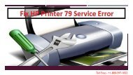 Fix HP Printer 79 Service Error +1-800-597-1052