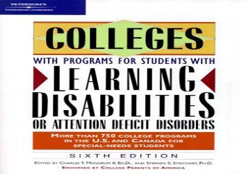 [+]The best book of the month Stdts W/Ld or Add, Coll W/ Pro (Peterson s Colleges for Students with Learning Disabilities or ADD)  [FULL]