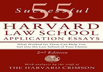 [+][PDF] TOP TREND 55 Successful Harvard Law School Application Essays, Second Edition  [NEWS]