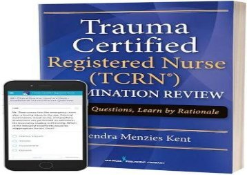 [+]The best book of the month Trauma Certified Registered Nurse (TCRN) Examination Review Elist with App  [READ]