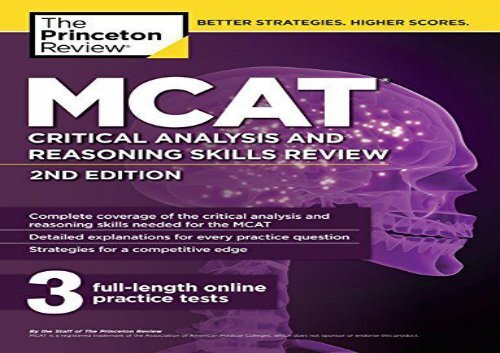 PDF] TOP TREND MCAT Critical Analysis and Reasoning Skills