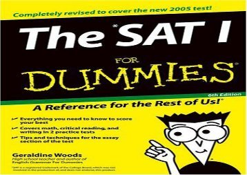 [+][PDF] TOP TREND The SAT I for Dummies (For Dummies (Lifestyles Paperback)) [PDF]