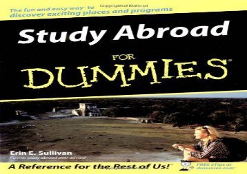 [+]The best book of the month Study Abroad for Dummies  [READ]